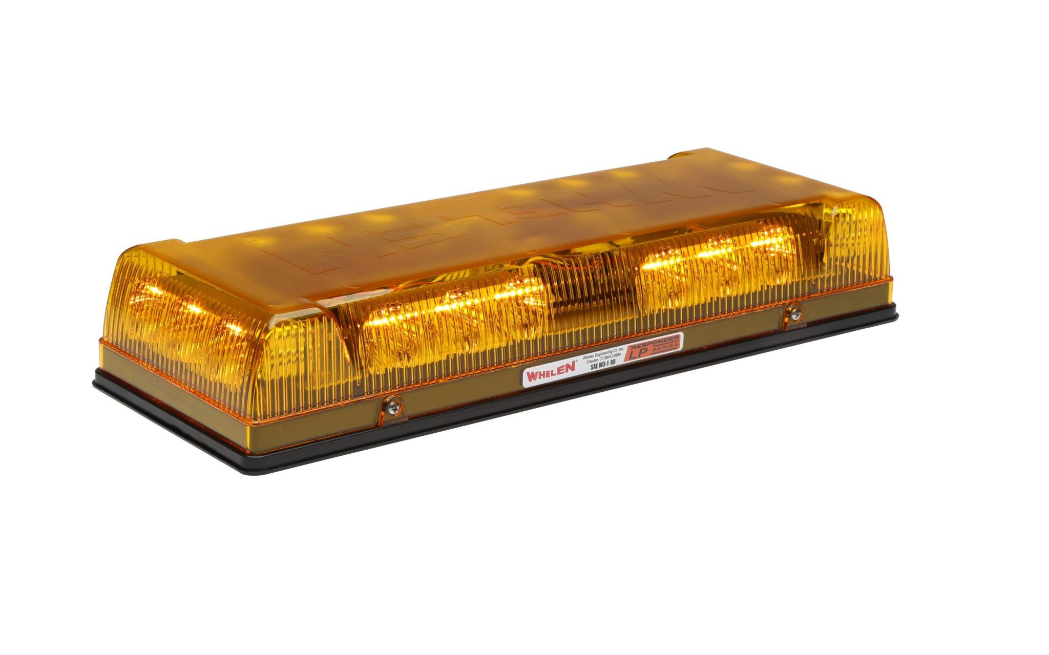 12 Volt Permanent Mount Amber Whelen Engineering Responder LP Mini Lightbar Model# R1LPPA